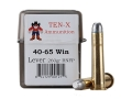 Ten-X Cowboy Ammunition 40-65 WCF 260 Grain Lead Round Nose Flat Point Box of 20