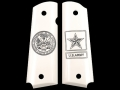 Hogue Grips 1911 Government, Commander Ivory Polymer Army Insignia