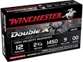 Winchester Double X Magnum Ammunition 12 Gauge 2-3/4&quot; Buffered 00 Copper Plated Buckshot 9 Pellets