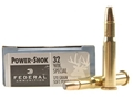 Product detail of Federal Power-Shok Ammunition 32 Winchester Special 170 Grain Soft Point Flat Nose Box of 20