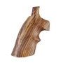 Product detail of Hogue Fancy Hardwood Grips with Top Finger Groove Taurus Medium and Large Frame Revolvers Square Butt Cocobolo