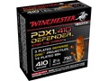 "Winchester Self Defense Ammunition 410 Bore 2-1/2"" 3 Disks over 1/4 oz BB Bonded PDX1 Case of 100 (10 Boxes of 10)"