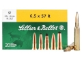 Product detail of Sellier & Bellot Ammunition 6.5x57mm Rimmed 131 Grain Soft Point Box of 20