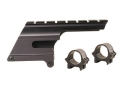 B-Square Shotgun Saddle Mount with 1&quot; Rings Winchester/USRAC 1200, 1300, 1400, 1500 12 Gauge Matte