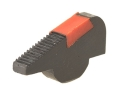 "Smith & Wesson Revolver Pinned Front Sight Black Serrated Ramp with Red Ramp Insert .278"" Height"