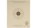 NRA Official Pistol Target TQ-9 25&#39; Slow Fire Paper Package of 100