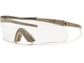 Smith Optics Elite Aegis Echo II Compact Eyeshields Tan 499 Frames Clear and Gray Lenses
