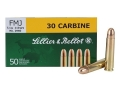 Sellier & Bellot Ammunition 30 Carbine 110 Grain Full Metal Jacket Box of 50
