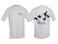 Avery Flock of Ducks T-Shirt Short Sleeve Cotton White Medium