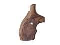 Hogue Bantam Grips with Top Finger Groove S&W J-Frame Round Butt Checkered Rosewood