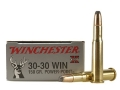 Winchester Super-X Ammunition 30-30 Winchester 150 Grain Power-Point Box of 20