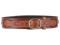 Product detail of Ross Leather Classic Cartridge Belt 45 Caliber Leather with Tooling and Conchos Tan 48&quot;