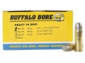 Buffalo Bore Ammunition 44 Remington Magnum 305 Grain Lead Long Flat Nose Box of 50