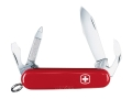 Wenger Swiss Army Apprentice Folding Knife 8 Function Swiss Surgical Steel Blades Polymer Scales Red