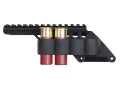 "Mesa Tactical Sureshell Saddle Mount Shotshell Ammunition Carrier 12 Gauge with 5"" Picatinny Optic Rail 4-Round Remington 870, 1100, 11-87 Aluminum Matte"