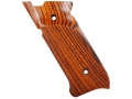 Product detail of Majestic Arms Target Grips Ruger Mark II, III with Right Hand Thumbrest Cocobolo