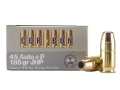 Cor-Bon Self-Defense Ammunition 45 ACP +P 185 Grain Jacketed Hollow Point Box of 20