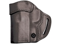BLACKHAWK! Compact Askins Belt Holster Left Hand S&W J Frame, Ruger SP101, Taurus M85 Leather Black