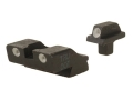 Meprolight Tru-Dot Sight Set 1911 Stake-On Wide Tenon Front and Colt Rear Cut Steel Blue Tritium Green
