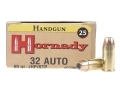 Hornady Custom Ammunition 32 ACP 60 Grain XTP Jacketed Hollow Point Box of 25