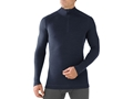 Smartwool Men's NTS Mid 250 1/4 Zip Base Layer Shirt Shirt Long Sleeve Merino Wool Deep Navy Large 42-44