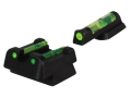 Product detail of HIVIZ Sight Set CZ 75, 83, 85, 97, P-01 Steel Fiber Optic Green