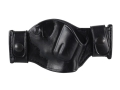 El Paso Saddlery Snap Off Compact Thumb Break Outside the Waistband Holster Right Hand Smith &amp; Wesson J-Frame Leather Black