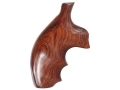 Hogue Fancy Hardwood Grips with Finger Grooves S&W J-Frame Round Butt Cocobolo