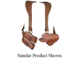 Bianchi X16 Agent X Shoulder Holster System Right Hand S&W 1006, 4506, CS40, CS45 Leather Tan