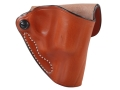 DeSantis Mini Scabbard Outside the Waistband Holster Right Hand Smith &amp; Wesson J-Frame Leather Tan