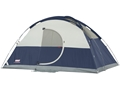 "Coleman Evanston Elite 8 Man Dome Tent 144"" x 144"" x 76"" Polyester Blue, White and Gray"