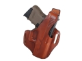 Bianchi 56 Serpent Outside the Waistband Holster Right Hand Glock 26, 27, 33 Leather Tan