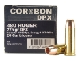 Product detail of Cor-Bon DPX Ammunition 480 Ruger 275 Grain Barnes XPB Hollow Point Lead-Free Box of 20