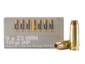 Product detail of Cor-Bon Self-Defense Ammunition 9x23mm Winchester 125 Grain Jacketed Hollow Point Box of 20