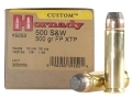 Hornady Custom Ammunition 500 S&amp;W Magnum 500 Grain XTP Jacketed Flat Nose Box of 20
