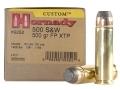 Hornady Custom Ammunition 500 S&W Magnum 500 Grain XTP Jacketed Flat Nose Box of 20