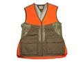 Beretta Men's Upland Mesh Vest Brushed Cotton and Polyester Tan and Blaze Orange Large 42-44