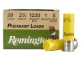 Remington Pheasant Ammunition 20 Gauge 2-3/4&quot; 1 oz #5 Shot Box of 25