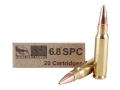 Silver State Armory Ammunition 6.8mm Remington SPC 110 Grain Barnes Triple-Shock X Bullet Hollow Point Lead-Free Box of 20