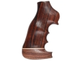 Hogue Fancy Hardwood Grips with Accent Stripe, Finger Grooves and Contrasting Butt Cap Ruger GP100, Super Redhawk Oversize Cocobolo