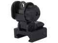 GG&amp;G Flip-Up Rear Sight with Locking Detent AR-15 Flat-Top Aluminum Matte