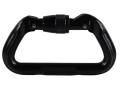 Omega Pacific Anodized Aluminum Standard D Carabiner Screw-Lok Black