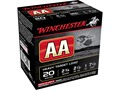 "Winchester AA Heavy Target Ammunition 20 Gauge 2-3/4"" 1 oz #7-1/2 Shot"