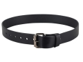 "Lenwood Leather GP Belt 1-3/4"" Steel Buckle Leather Black 46"""