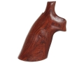 Hogue Fancy Hardwood Conversion Grips S&W K, L-Frame Round to Square Butt