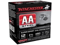 "Winchester AA Sport Sporting Clays Ammunition 12 Gauge 2-3/4"" 1 oz #7-1/2 Non-Toxic Steel Shot"