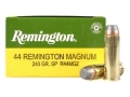 Product detail of Remington Express Ammunition 44 Remington Magnum 240 Grain Jacketed Soft Point Box of 25