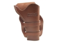 "Van Horn Leather Mexican Double Loop Holster 7.5"" Single Action Right Hand Leather Chestnut"