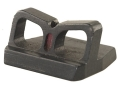 NECG See-Thru Rear Sight Blade Only Provides a .590&quot; Height Fiber Optic Red