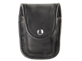 Bianchi 7915 AccuMold Elite Pager or Glove Pouch Chrome Snap Trilaminate High-Gloss Black